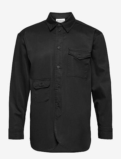 Army Shirt - linnen overhemden - black
