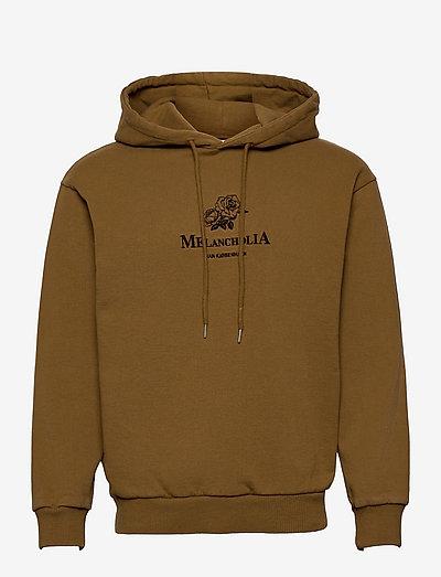 Artwork Hoodie - hoodies - bronze brown