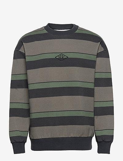 Bulky Crew - truien - dark tonal stripes
