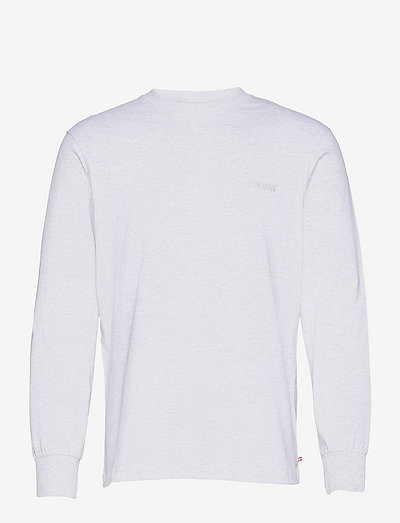 Casual Tee Long Sleeve - basic t-shirts - light grey melange logo