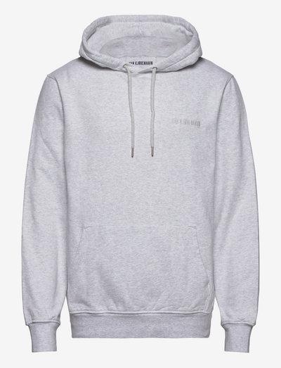 Casual Hoodie - hoodies - light grey melange logo