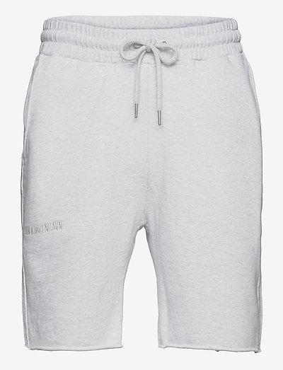 Sweat shorts - casual shorts - light grey melange logo