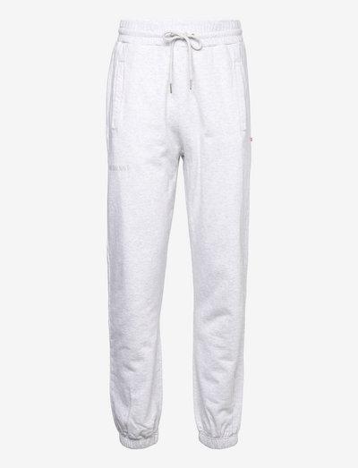 Sweatpants - nieuwe mode - light grey melange logo