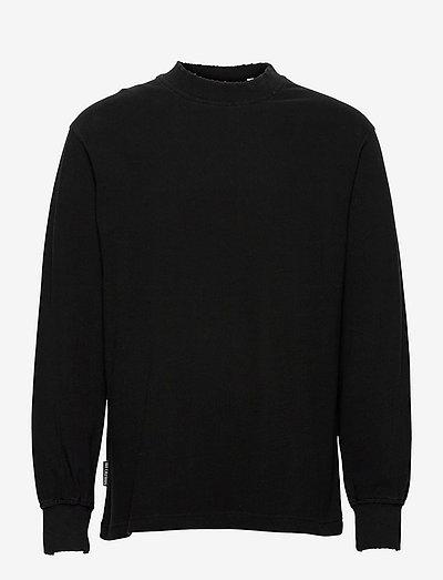 Distressed Tee Long Sleeve - basic t-shirts - distressed black