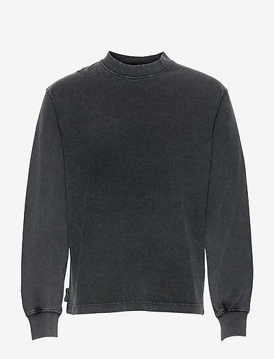 Distressed Tee Long Sleeve - basic t-shirts - distressed dark grey