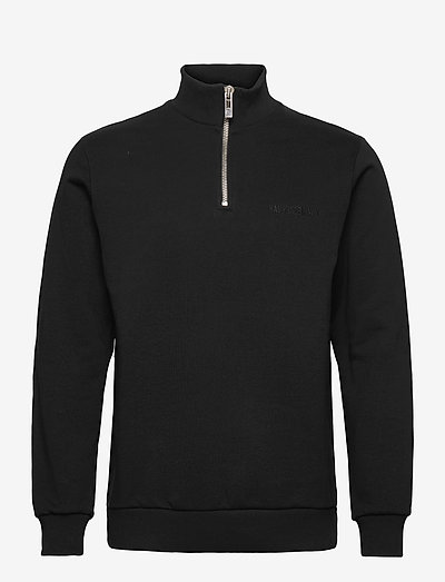 Half Zip Sweat - perus-college-paitoja - black logo
