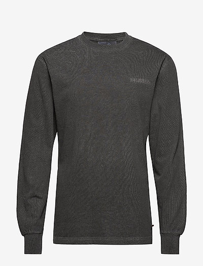 Casual Long Sleeve Tee - t-shirts basiques - dark grey logo