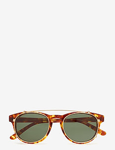 Timeless Clip On - Amber - round frame - amber