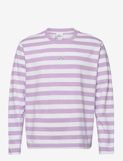 Hanger Striped Longsleeve - lange mouwen - lilac white 3720