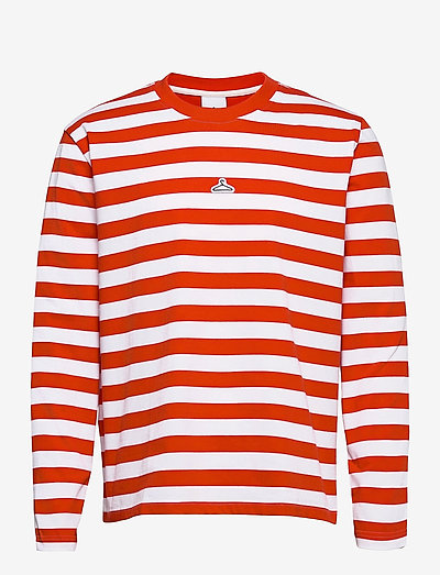 Hanger Striped Longsleeve - długi rękaw - red white 1664