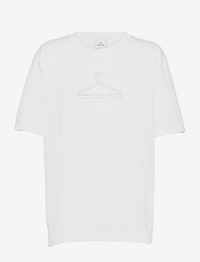 Hanger Dots Print Tee - t-shirts - white