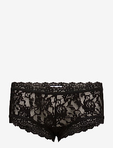BOYSHORT SIGNATURE LACE - BLACK