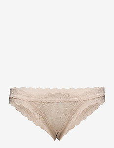 BIKINI SIGNATURE LACE - briefs - chai
