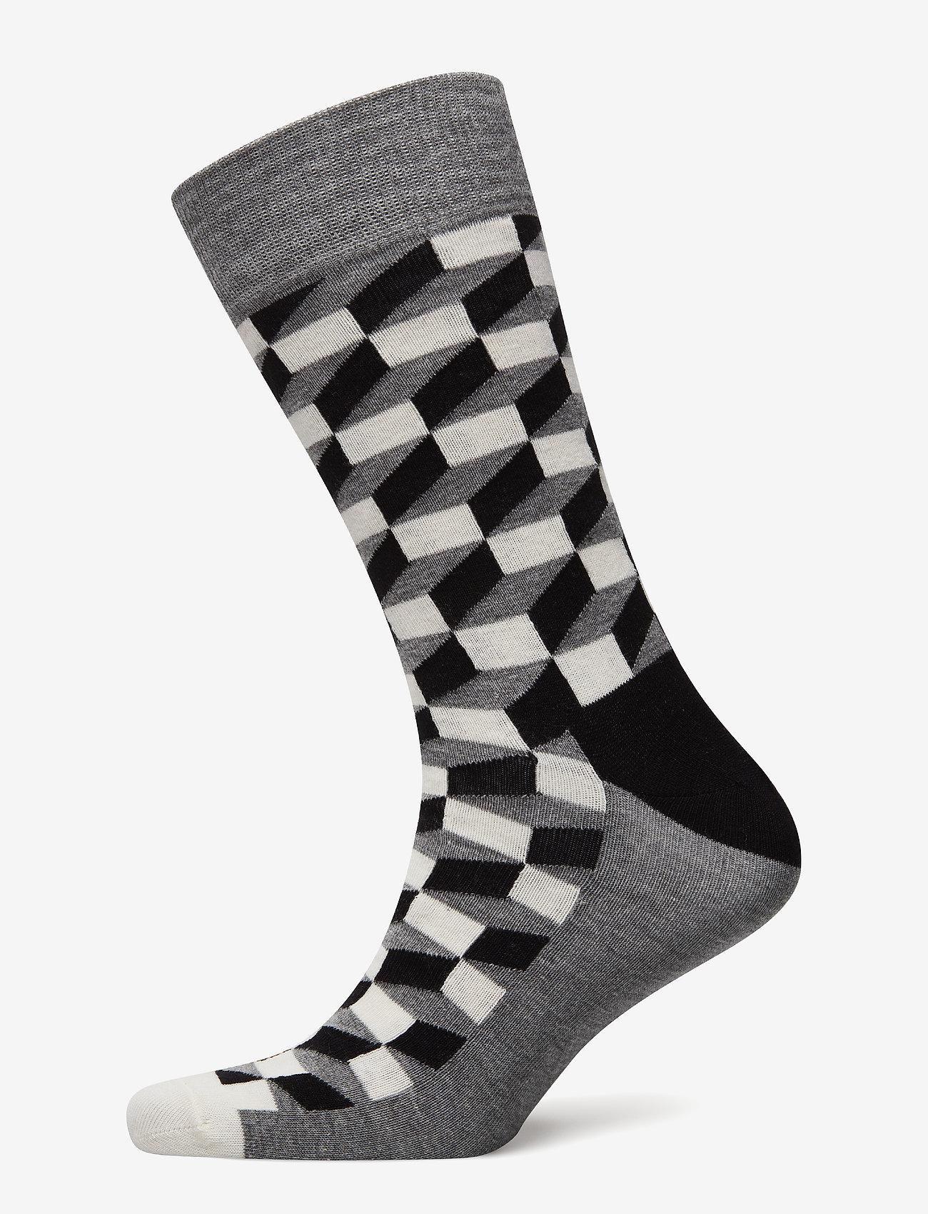 Happy Socks - Filled Optic Sock - reguläre strümpfe - black - 0
