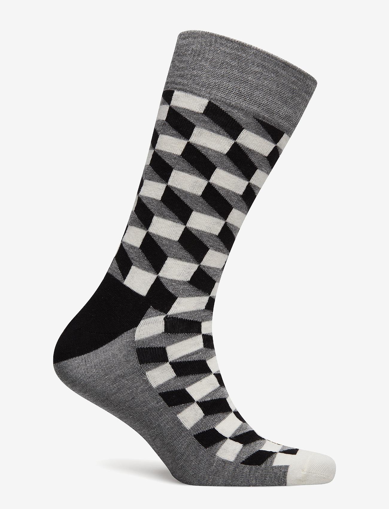Happy Socks - Filled Optic Sock - reguläre strümpfe - black - 1