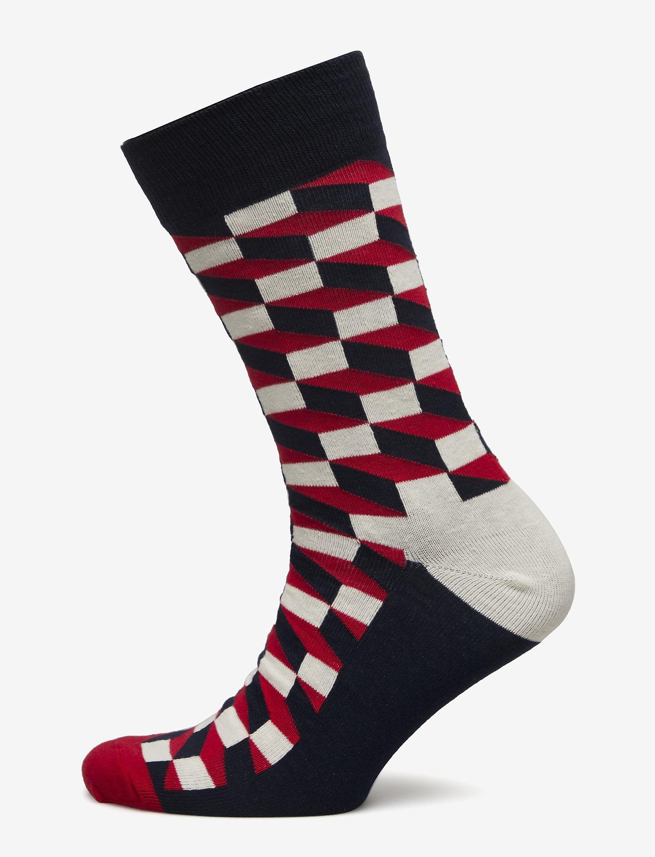 Happy Socks - Filled Optic Sock - strumpor - blue - 0