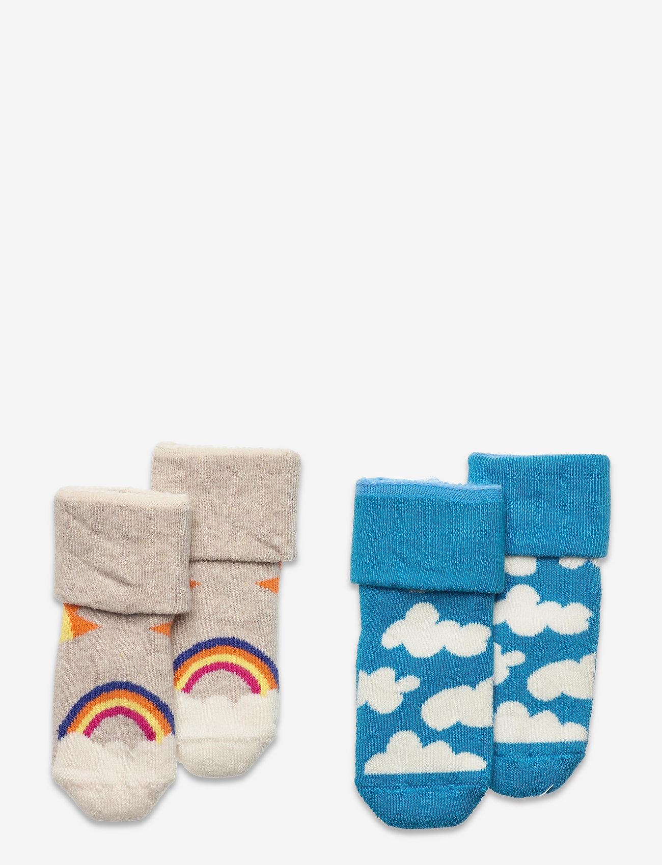 Happy Socks - 2-Pack Kids After Sun Terry Socks - skarpetki - grey - 0