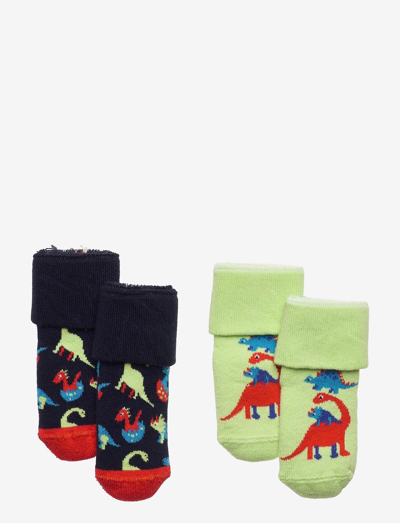 Happy Socks - 2-Pack Kids Dinos Terry Socks - skarpetki - blue - 0