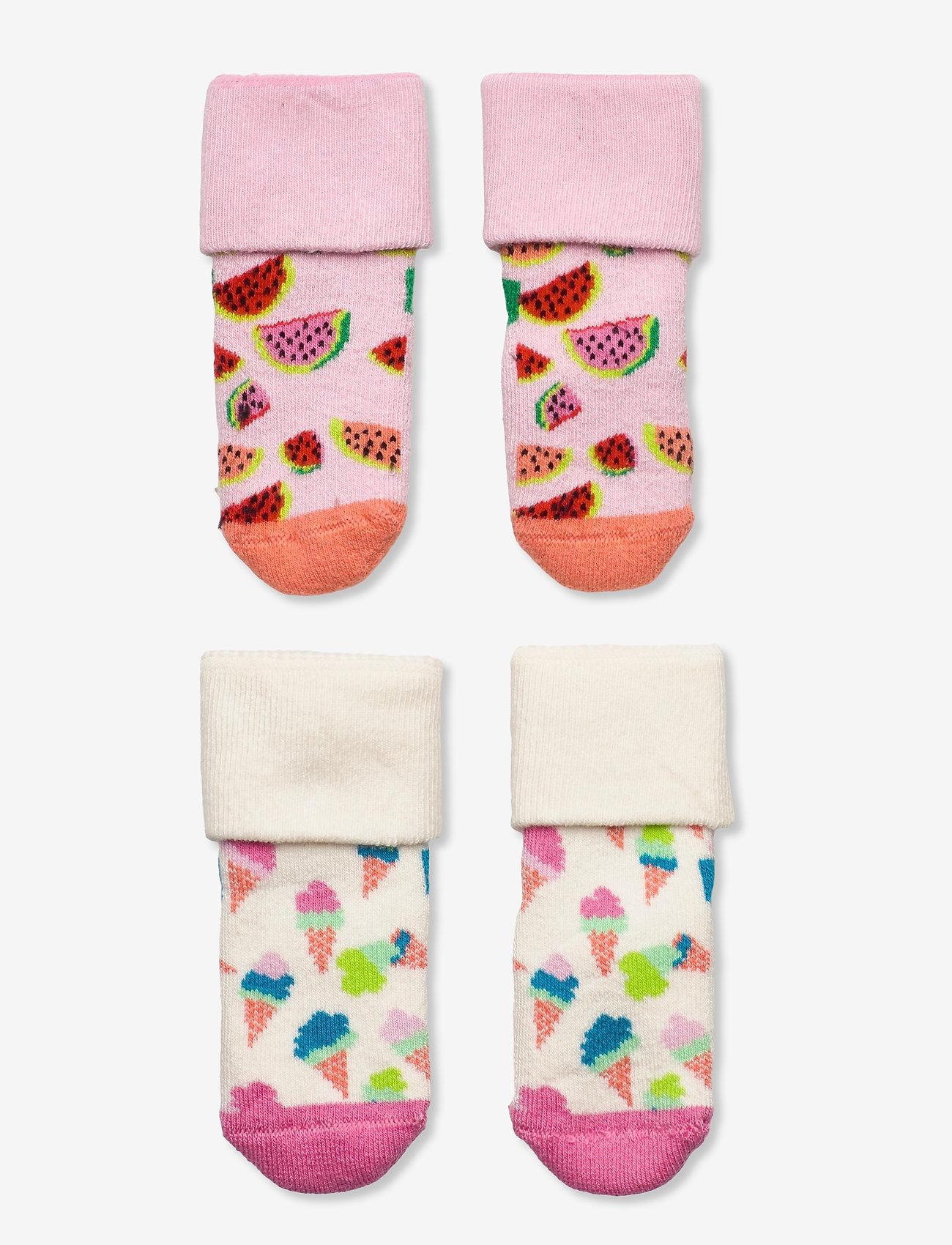 Happy Socks - 2-Pack Kids Ice Cream Terry Socks - skarpetki - multi - 0