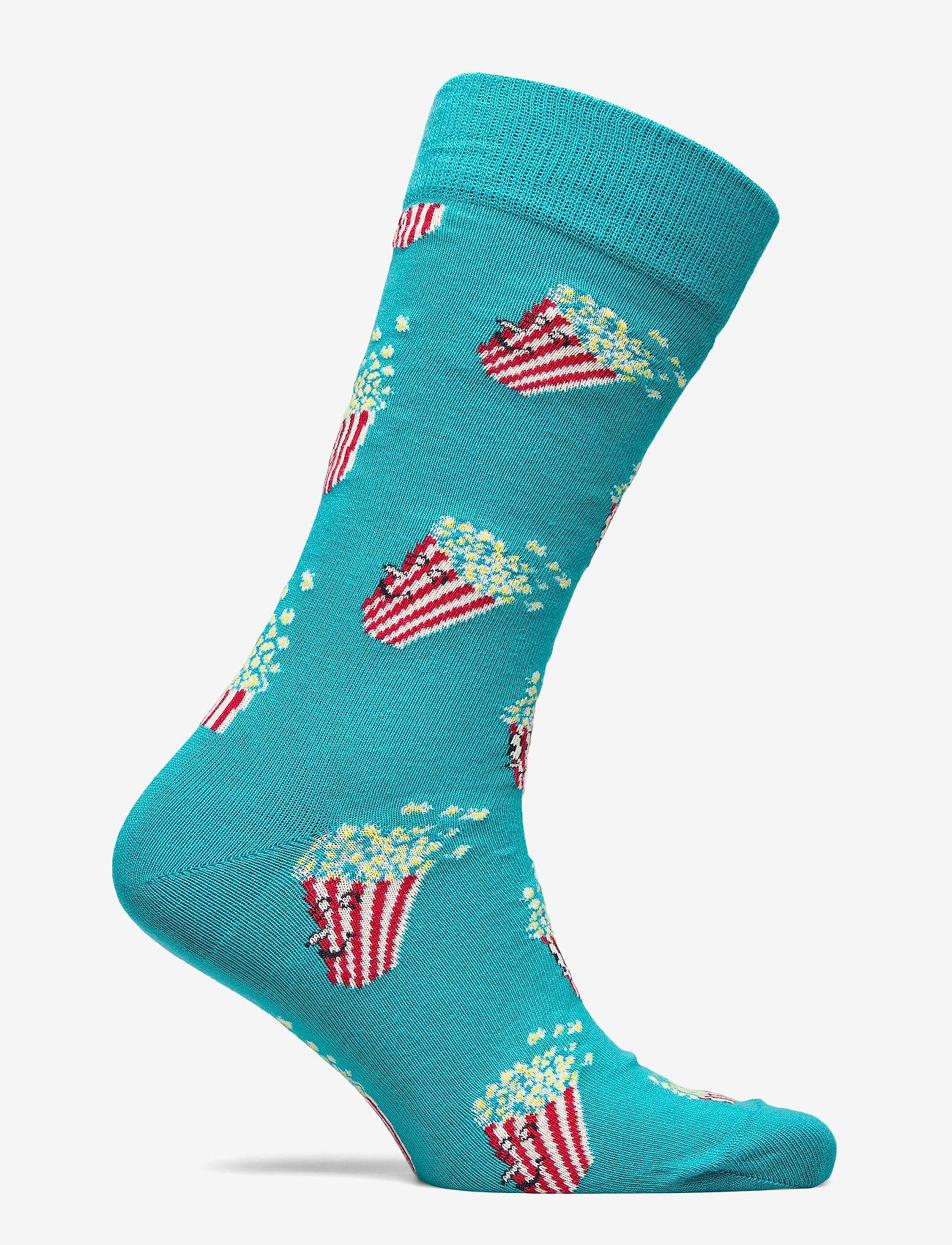 Happy Socks Popcorn Sock - Sokker BLUE - Menn Klær