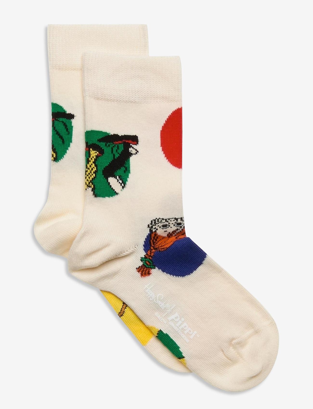 Happy Socks - Kids Pippi Jumbo Dot Sock - skarpetki - white - 0