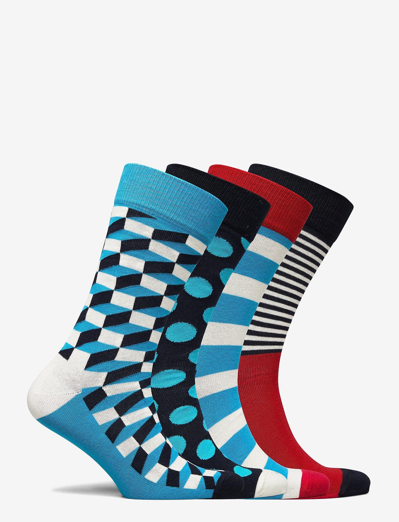 Happy Socks 4 pk Filled Optic Gift Box - Strømper MULTI - Menn Klær