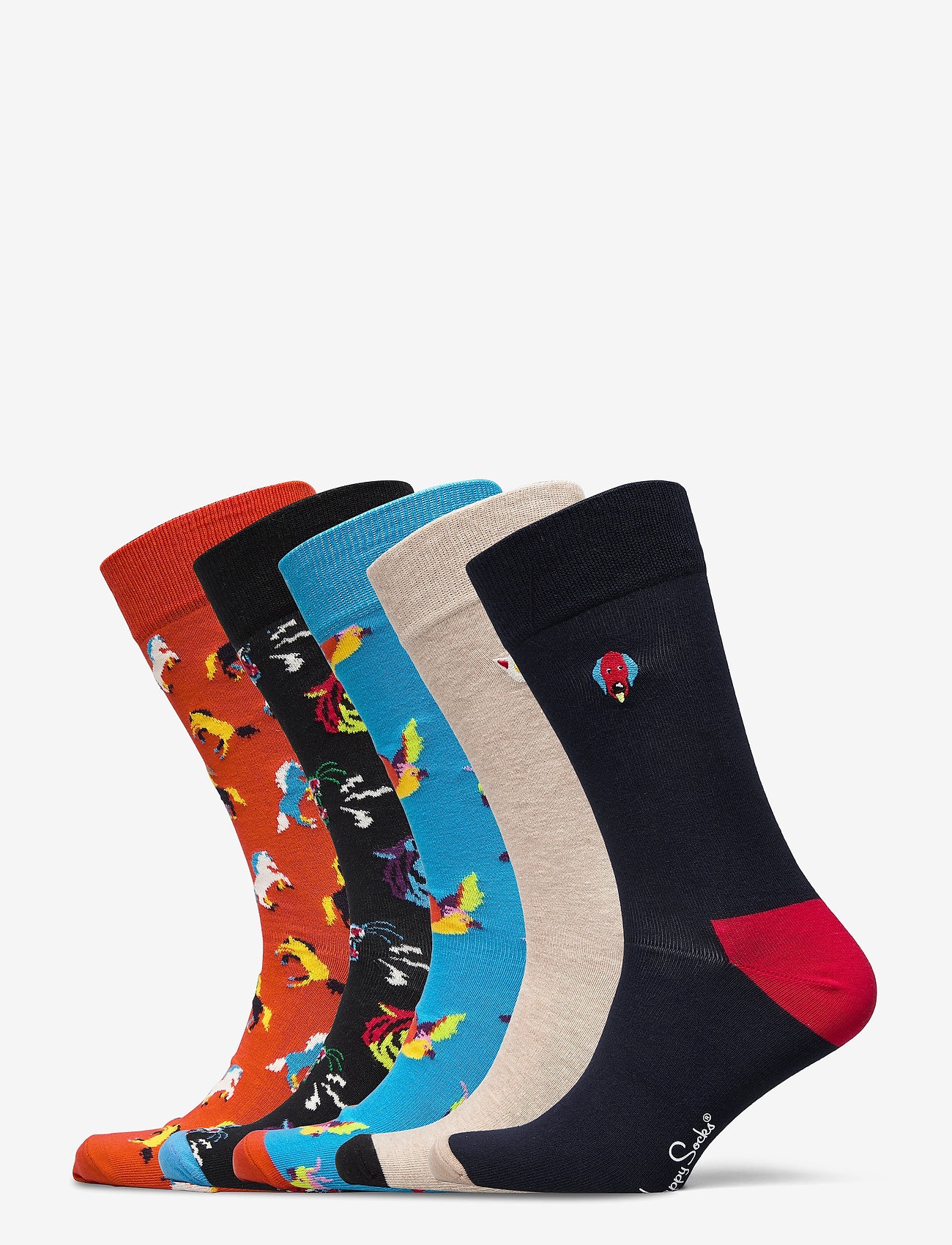 Happy Socks - 5-Pack Animal Socks Gift Set - skarpety crew - multi - 0