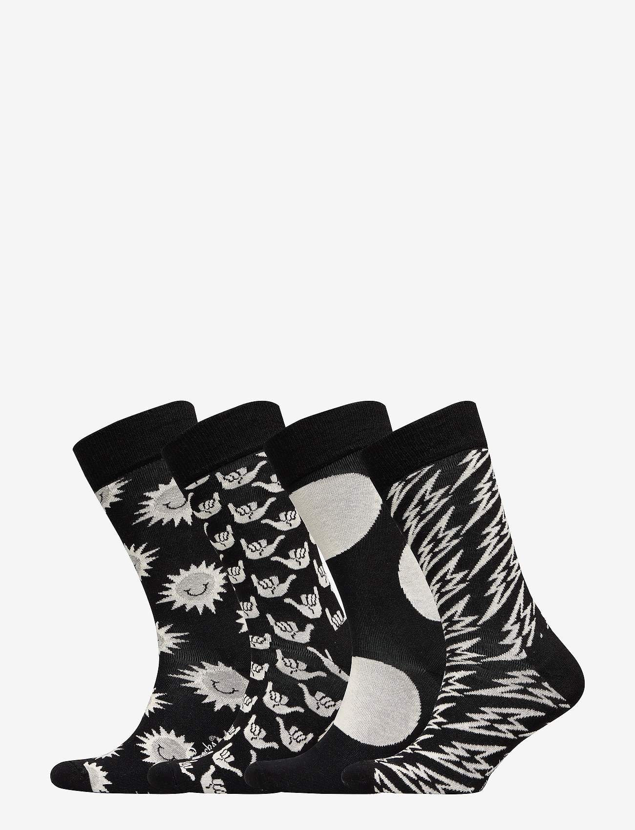 Happy Socks Black And White Gift Box - Strumpor