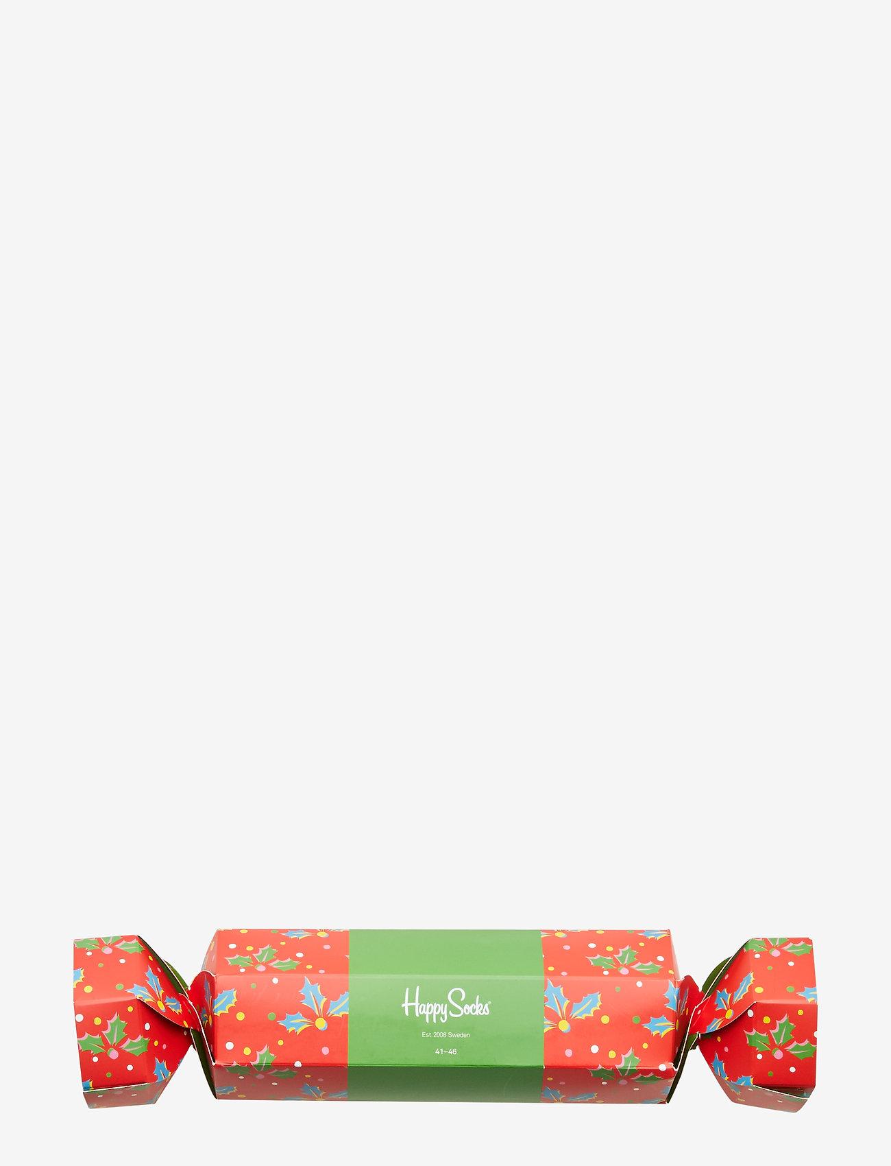 Happy Socks Christmas Cracker Holly Gift Box - Sokker RED - Menn Klær