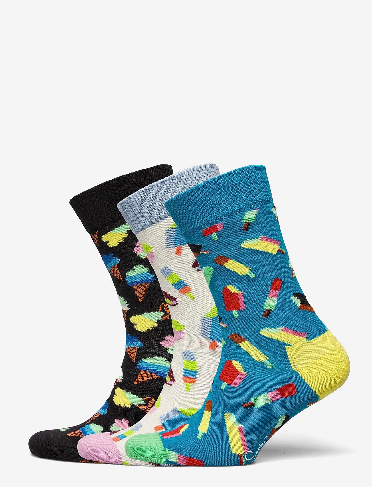 Happy Socks - 3-Pack Ice Cream Socks Gift Set - skarpetki - multi - 1