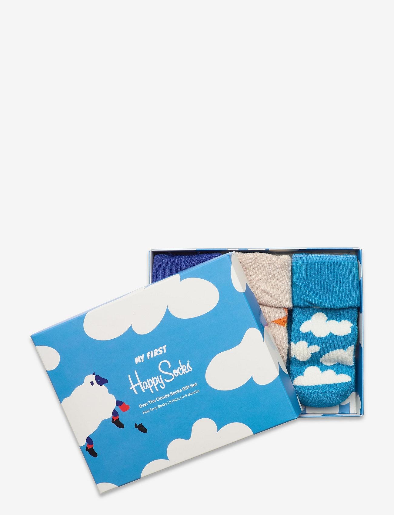 Happy Socks - Kids Over The Clouds Terry Gift Set - skarpetki - blue - 1