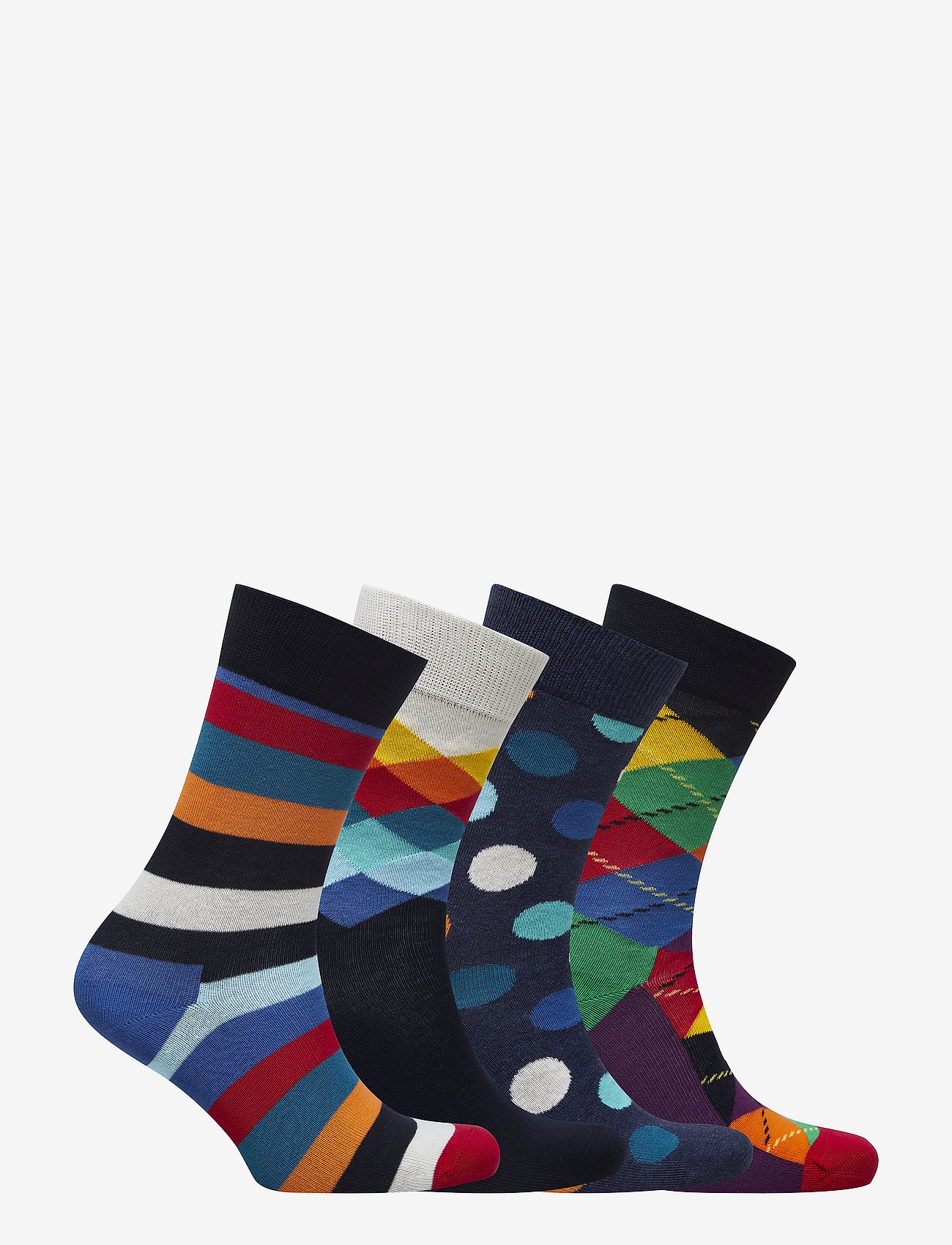 4-pack Multi-color Socks Gift Set (Blue) - Happy Socks syaKeC