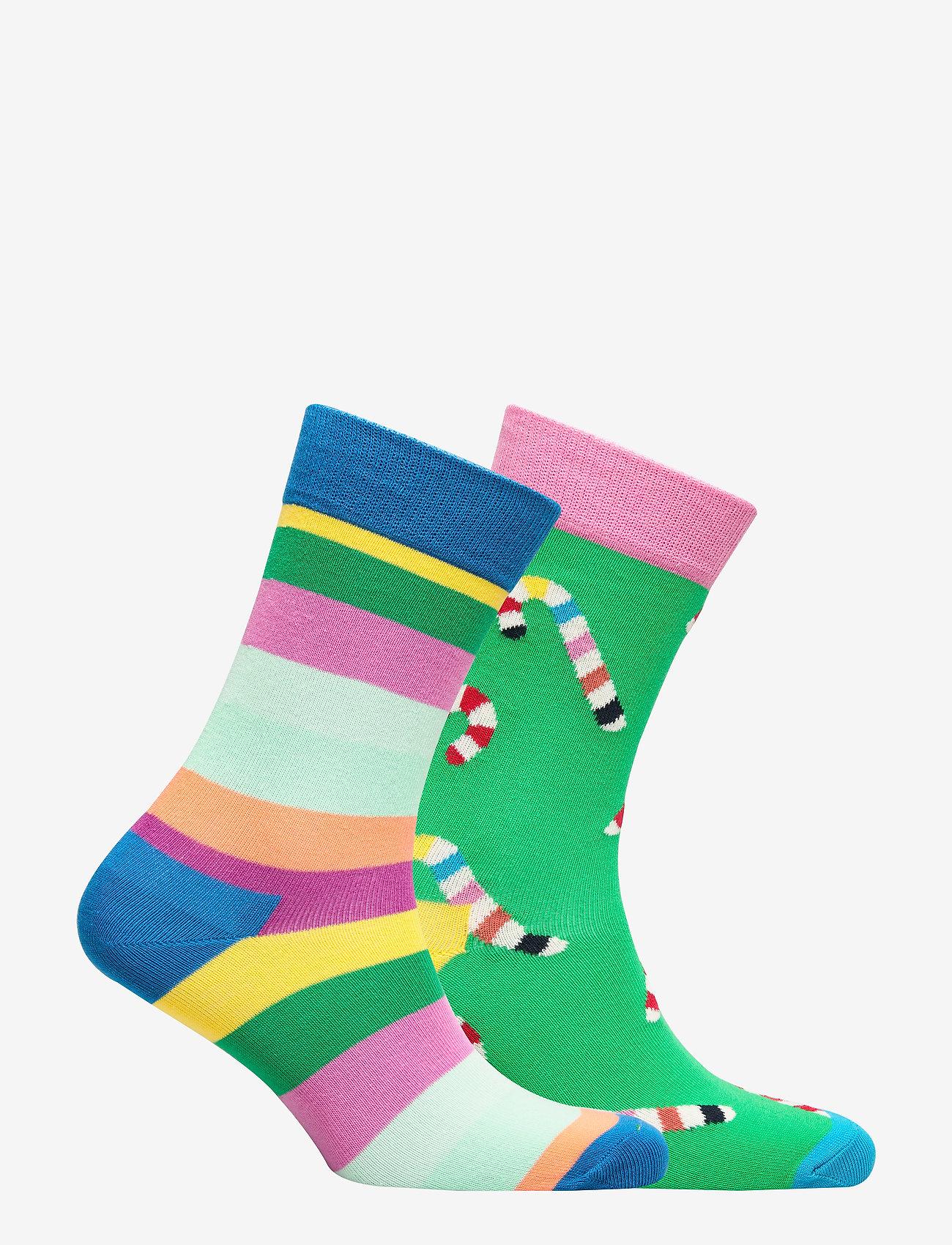 Happy Socks Christmas Cracker Candy Cane Gift Box - Sokker GREEN - Menn Klær