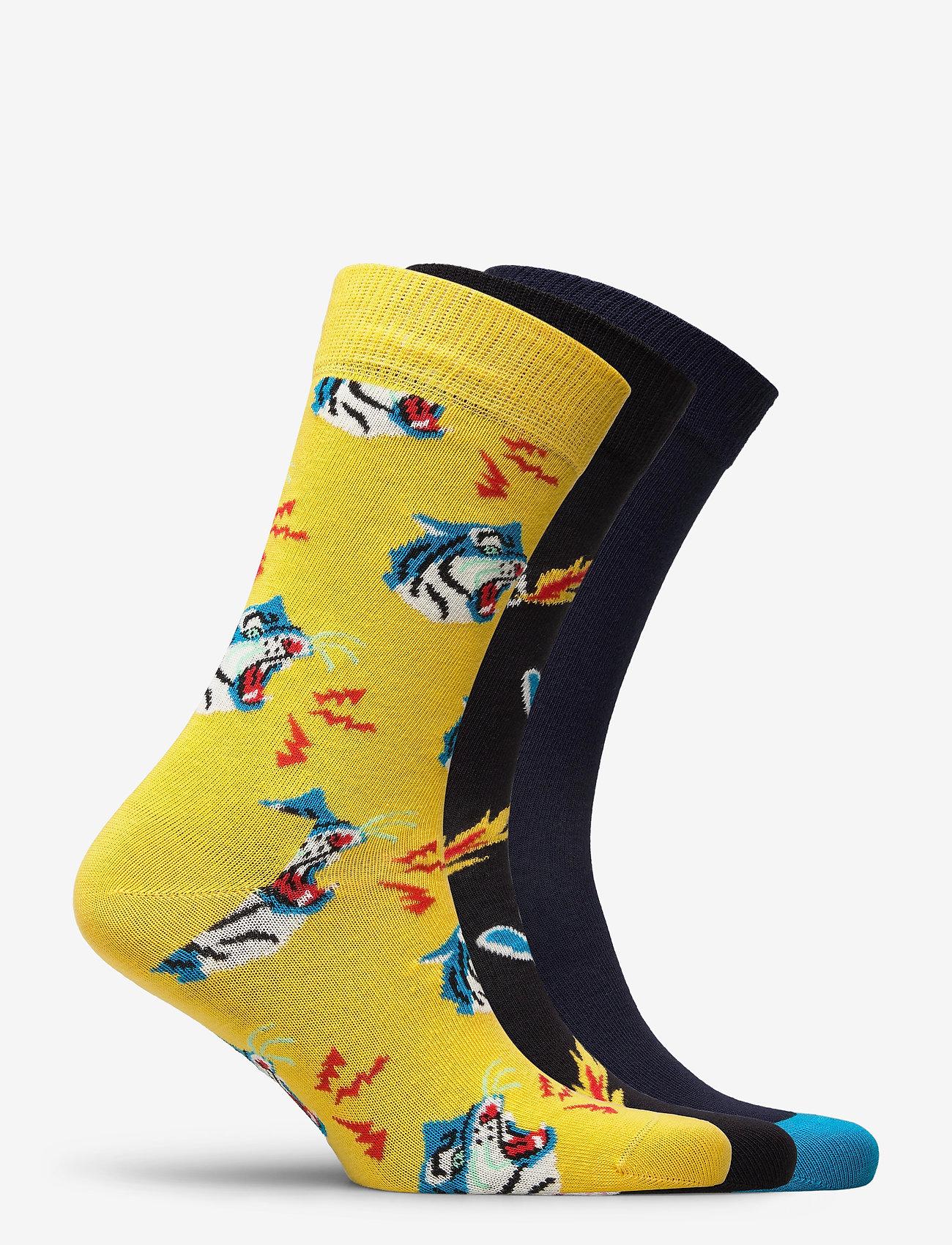 Happy Socks - 3-Pack Tiger Socks Gift Set - skarpety crew - multi - 1