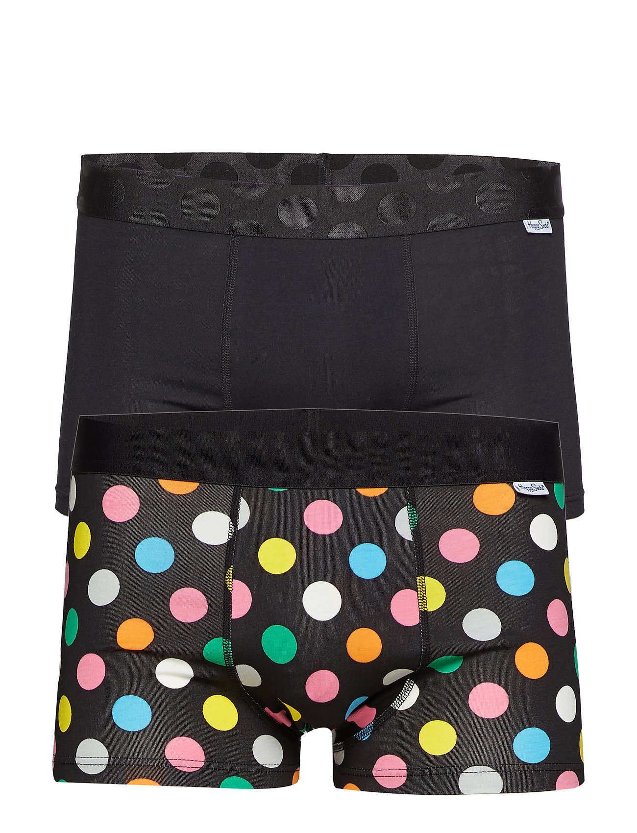 Happy Socks 2-Pack Big Dot Trunk - BLACK