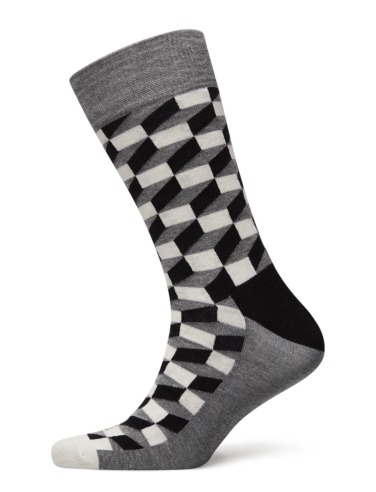 Happy Socks Filled Optic Sock - BLACK