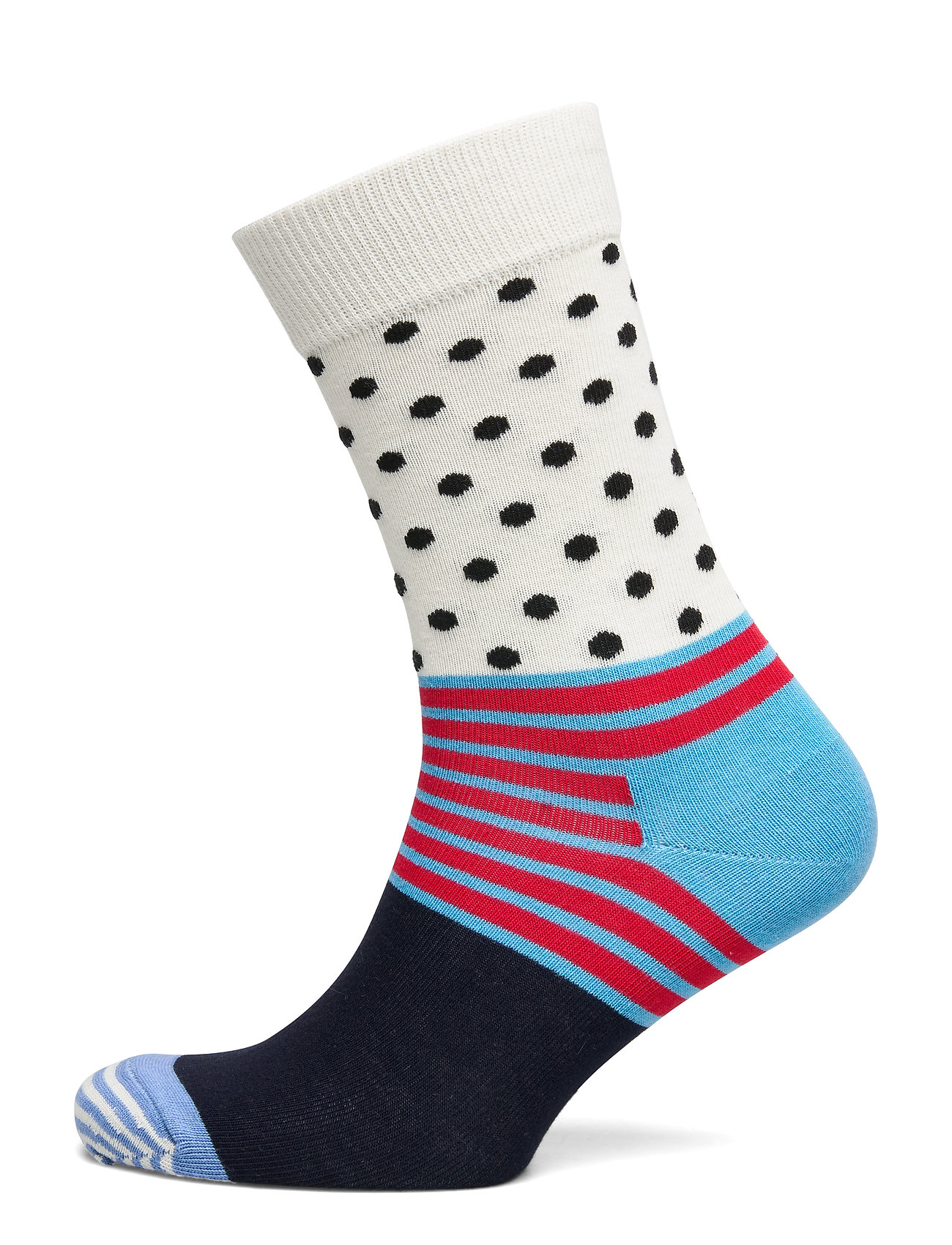 Happy Socks Stripe And Dot Sock - BLUE