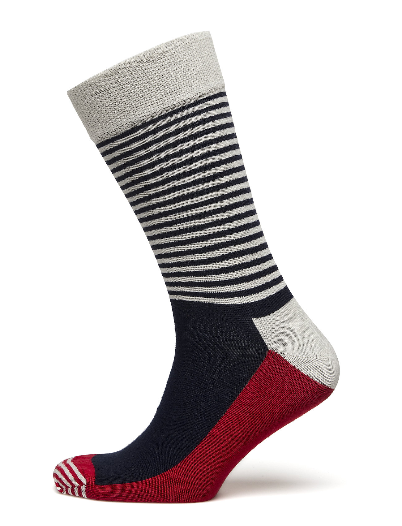 Happy Socks Half Stripe Sock - BLUE