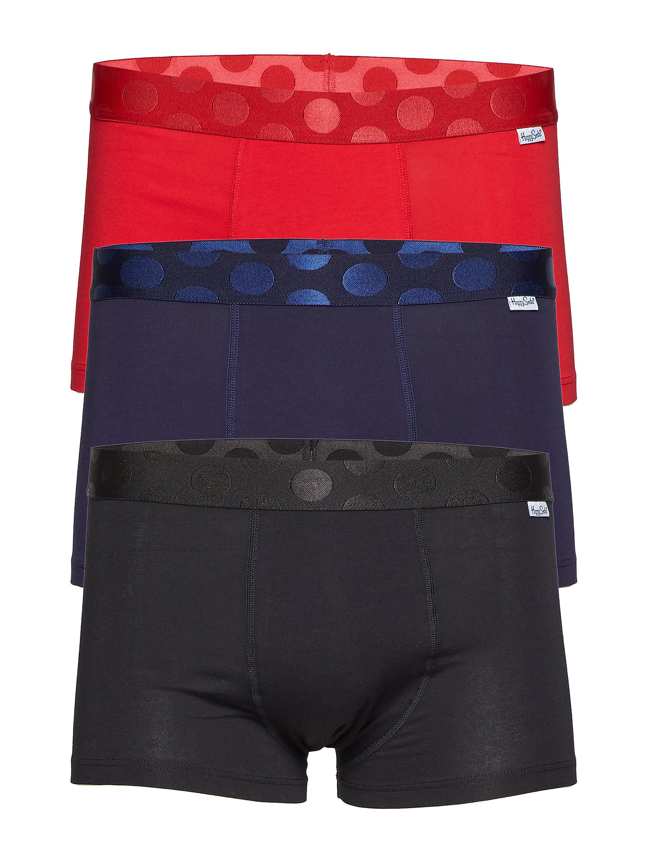 Happy Socks 3-Pack Solid Trunk