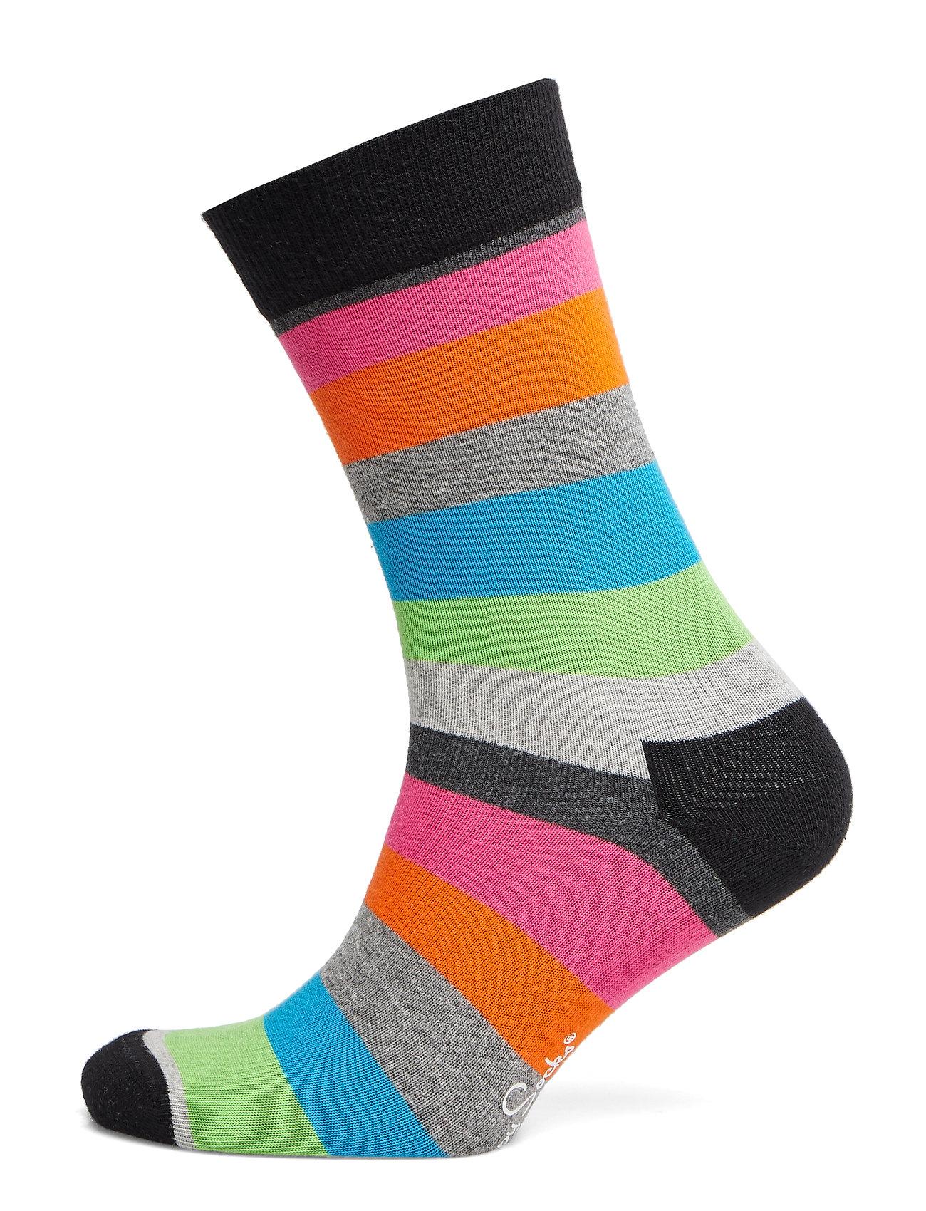Happy Socks Stripe Sock - BLACK