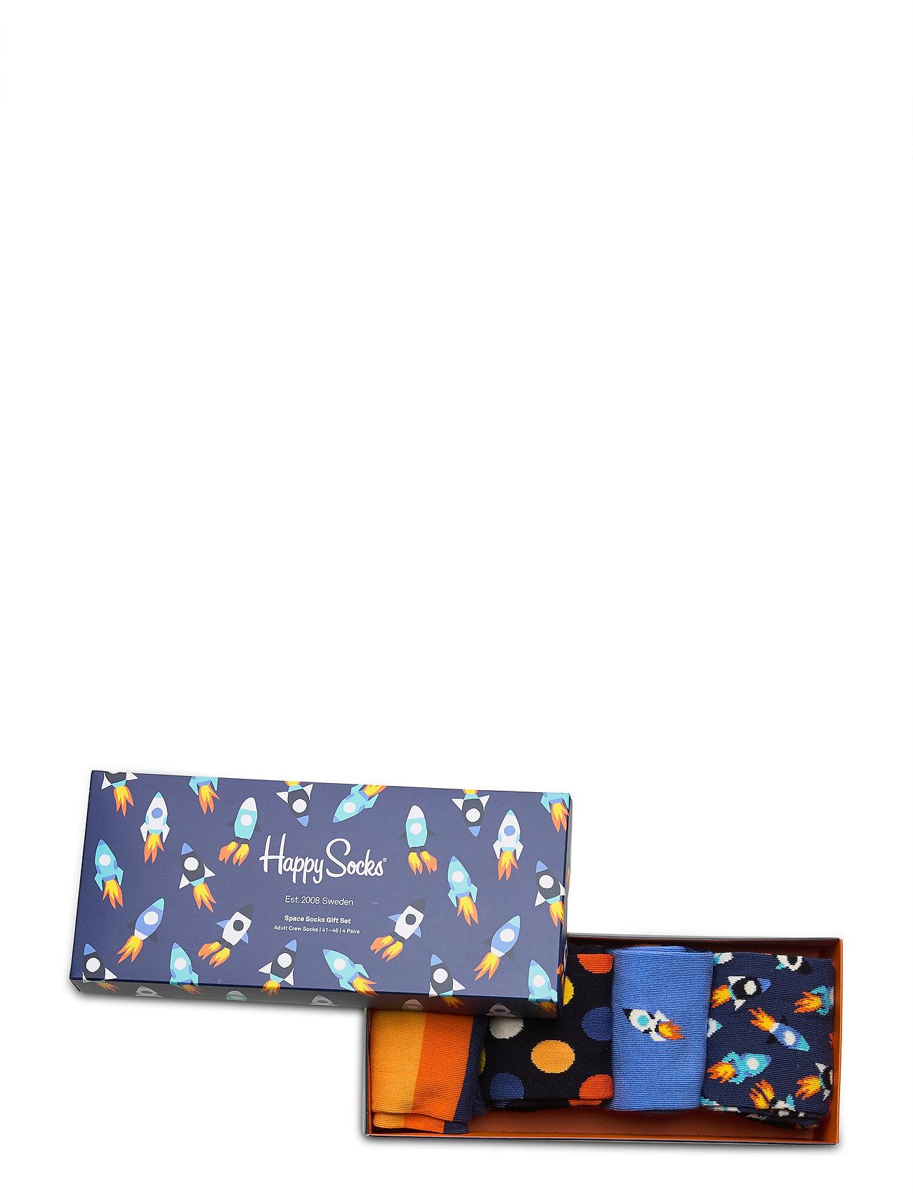 Happy Socks Rocket Gift Box 4-Pack - Strømper MULTI - Menn Klær