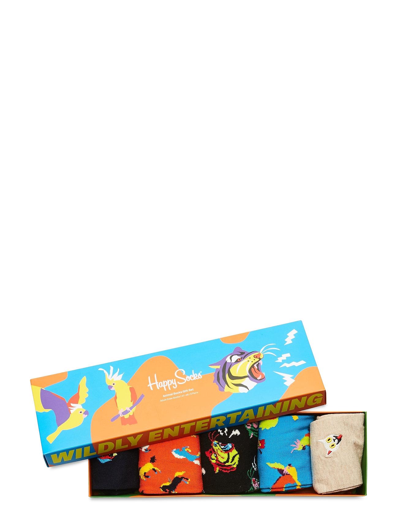 Happy Socks - 5-Pack Animal Socks Gift Set - skarpety crew - multi - 1