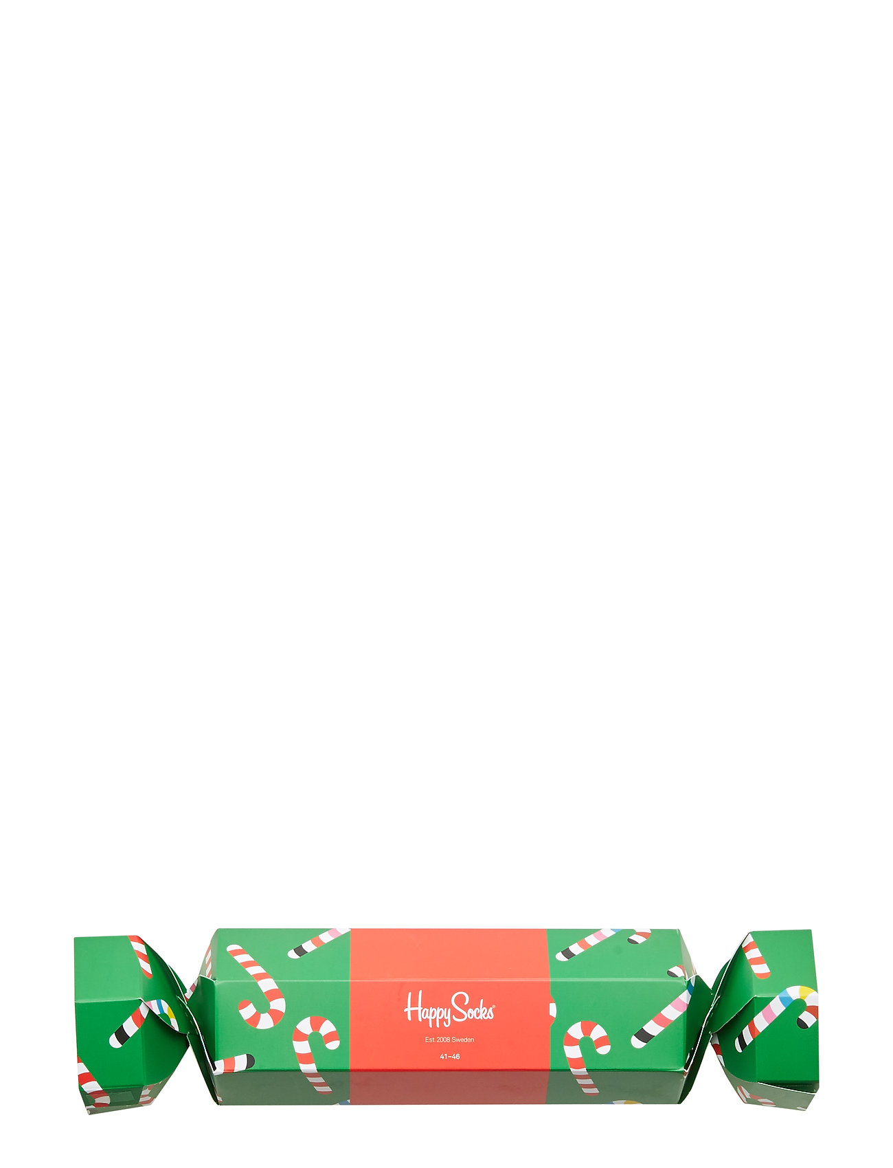 Happy Socks Christmas Cracker Candy Cane Gift Box - GREEN