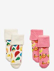 Happy Socks - 2-Pack Kids Fruit Terry Socks - skarpetki - multi - 0