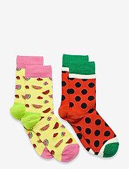 Happy Socks - 2-Pack Kids Watermelon Sock - skarpetki - light yellow - 0