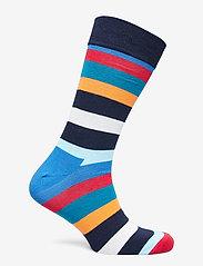 Happy Socks - Stripe Sock - crew zeķes - blue/red/orange - 1