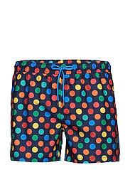 Big Dot Swim Shorts - BLUE