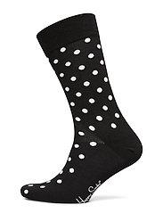 Dot Sock - BLACK
