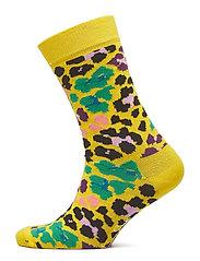 Multi Leopard Sock - YELLOW
