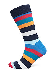 Stripe Sock - BLUE/RED/ORANGE